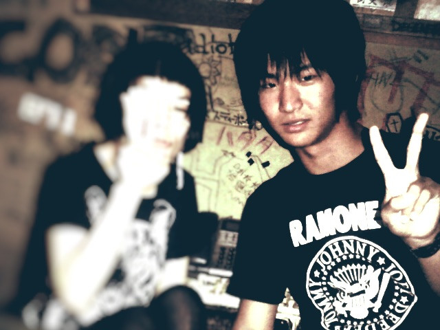 When I was 15yo I took picture with Singer from Punk Band in the Green Room of local venue in Osaka.