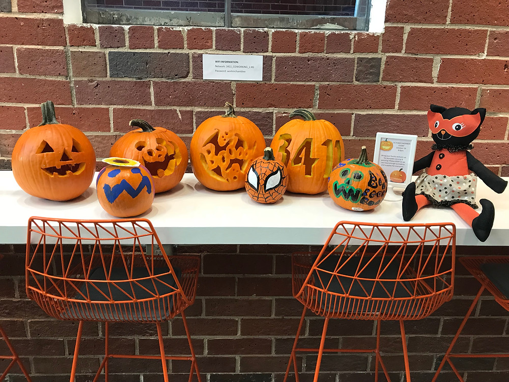 Finished Pumpkins on Display