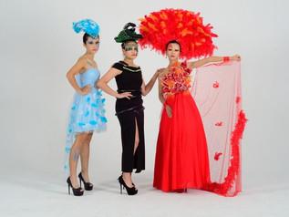 頭城家商年度展走宜蘭風 傳統繡莊五營旗融入流行服飾