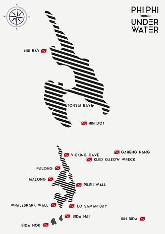 Carte de Koh Phi Phi