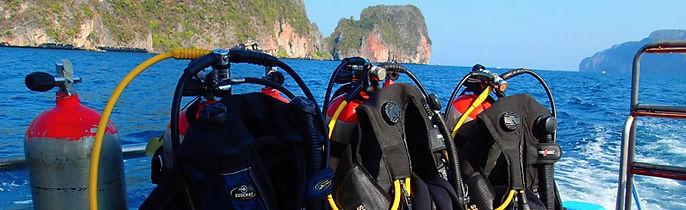 Equipements pour deux plongées de rréadaptation, Koh Phi Phi