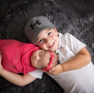 Sibling Newborn Studio Photographer Texarkana, Texas