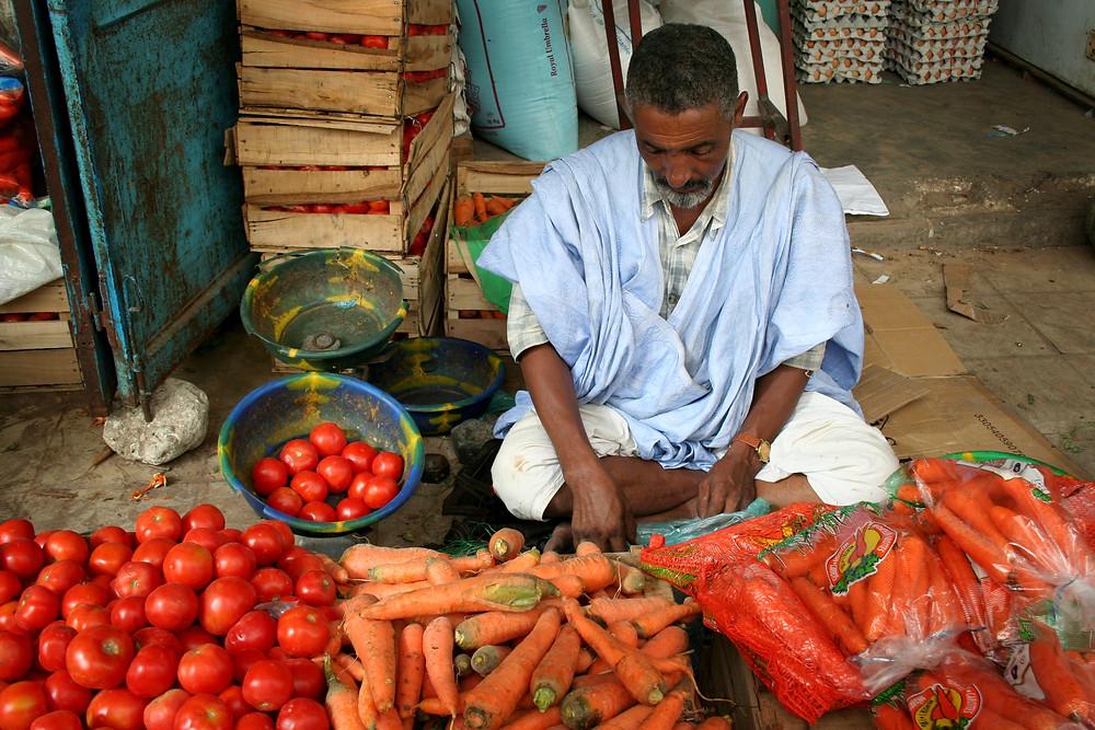 A street vendor in North Africa