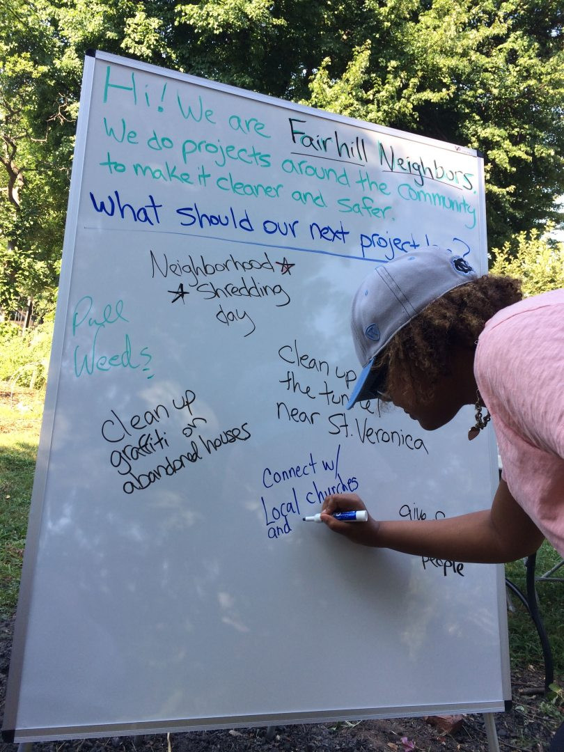 Fair Hill Neighbors takes community project suggestions