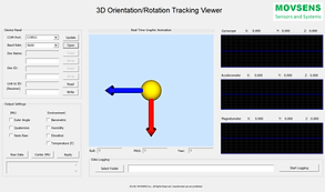 Orientation Tracking Software GUI