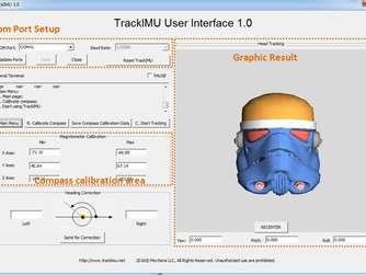 How to calibrate compass of TrackIMU in TrackIMU User Interface