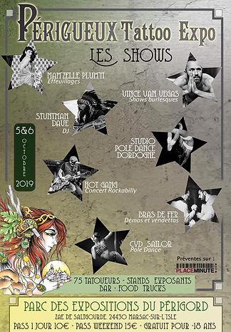 Salon du Tatouage de Périgueux Les shows sur scèn