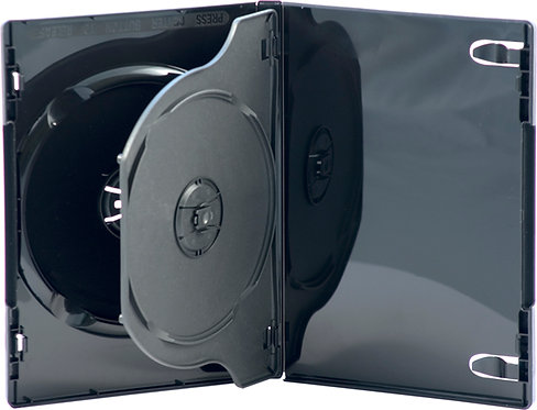 Double DVD Box With Tray (D2NB-TS)