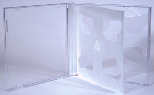 2 Disc Jewel CD BOX (PP Tray)  -    (G 2CD TR)