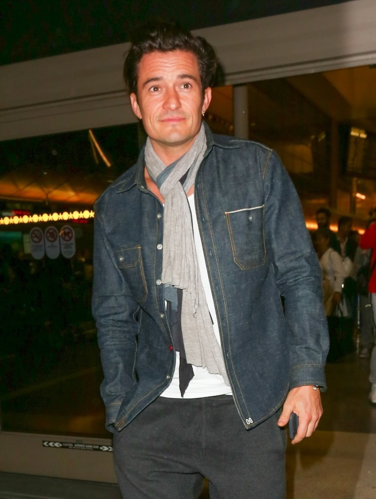 orlando bloom, katy perry, lax airport, celebrity news