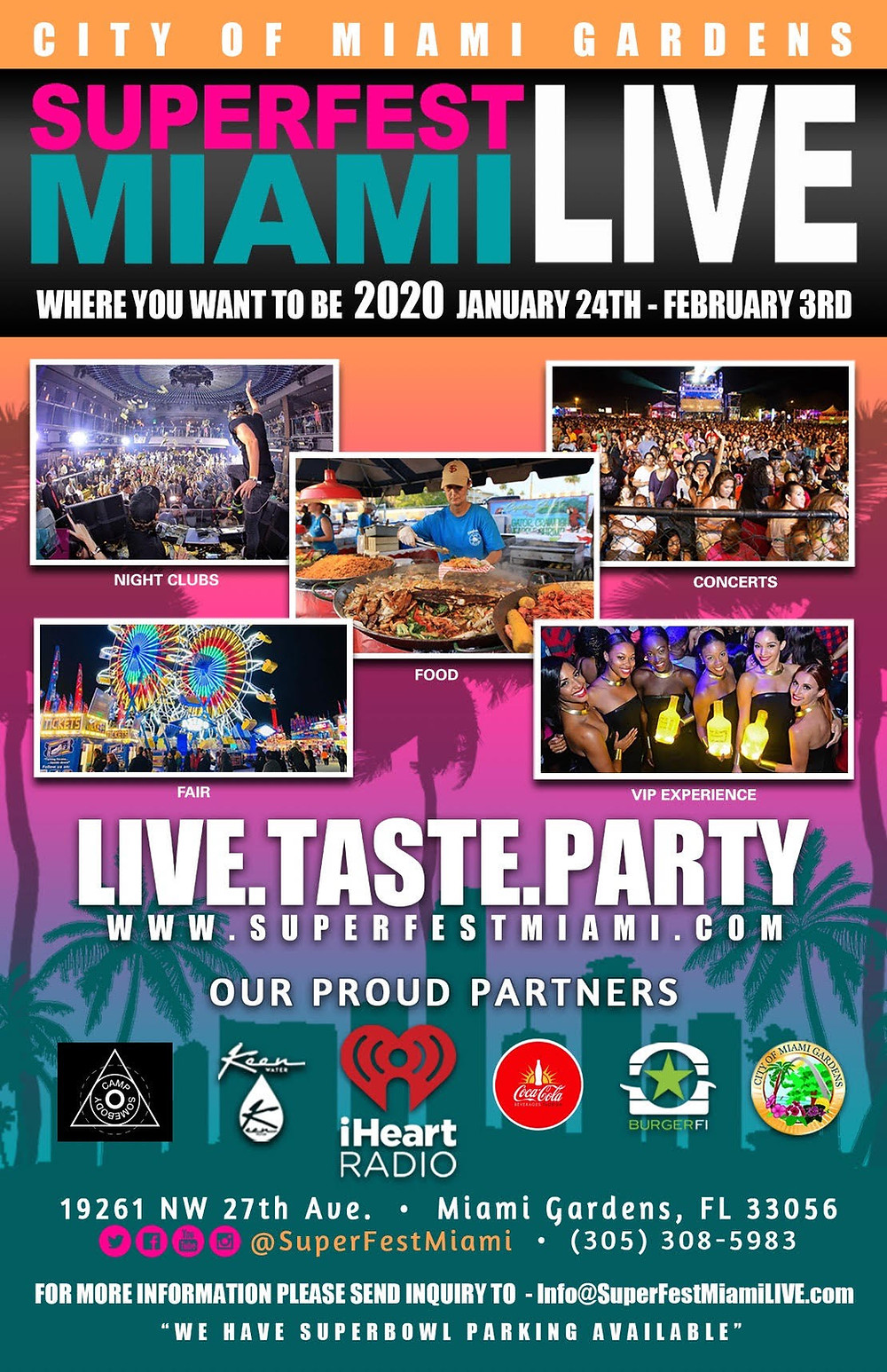 superfest, miami, superfest mami live, viewtopia, superbowl, fans, miami gardens, cardi B., gunna, chris brown, meghan the stallion, dababy