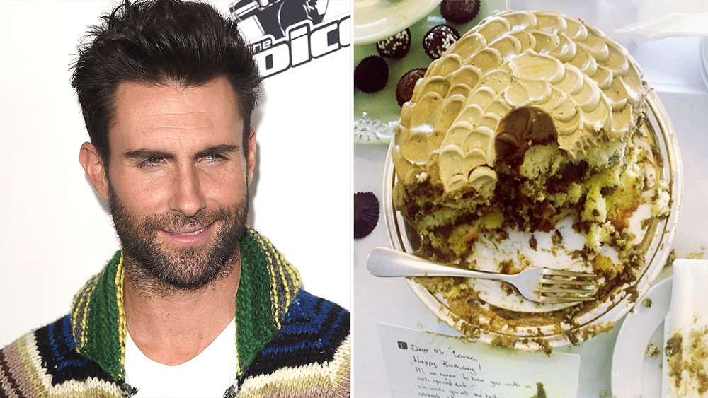 adame levine, celebrity news, entertainment lifestyle, birthday cake, the voice