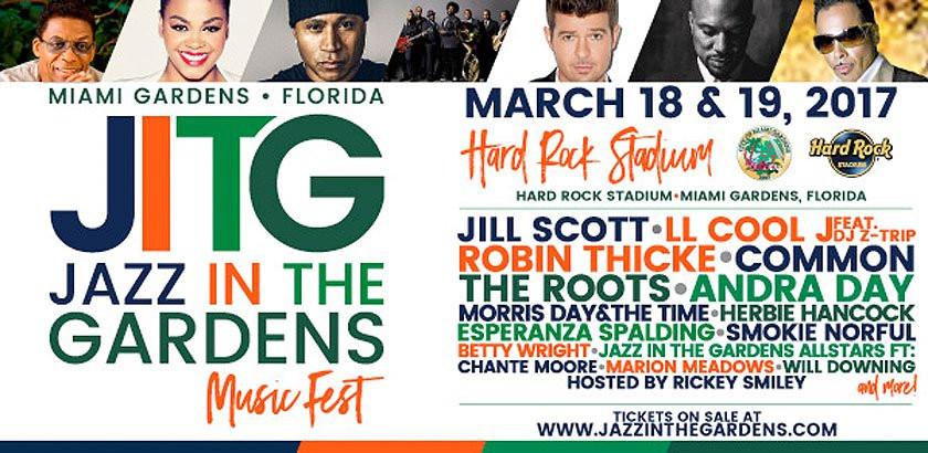 jazz in the gardens, jill scott, ll cool J, miami gardens, hard rock stadium, rickey smiley