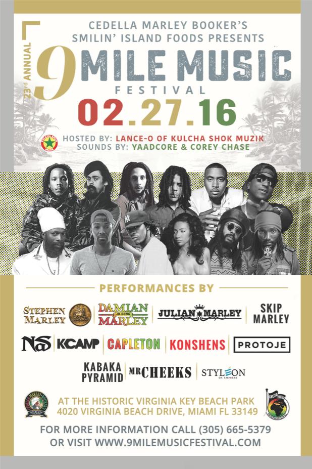 The Marley's, Nas, Capleton, Konshens & More at 9 Mile Music Festival