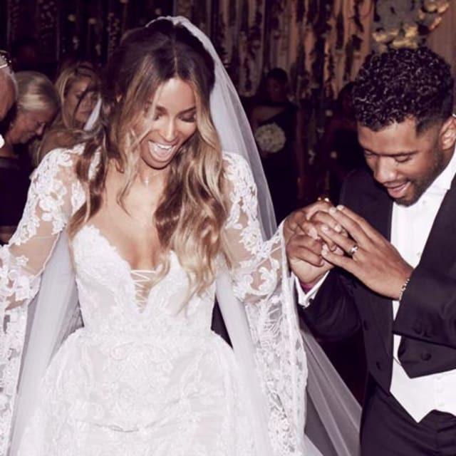 ciara, russell wilson, anniversary, wedding