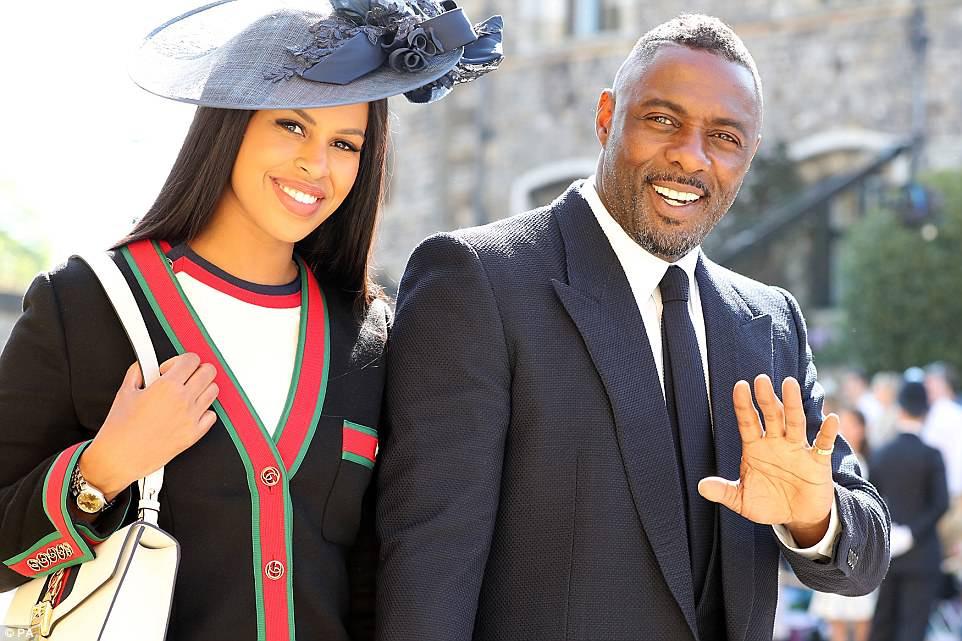 idris elba, royal wedding, windsor palace, meghan markle, prince harry, Sabrina Dhowre