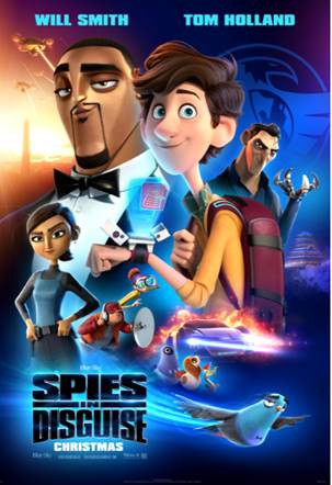 will smith, tom holland, spies in disguise, trailer, blue sky studios