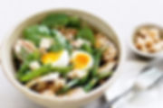 chicken-spinach-and-soft-boiled-egg-sala