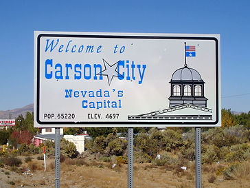 Welcome Sign Nevada Carson City