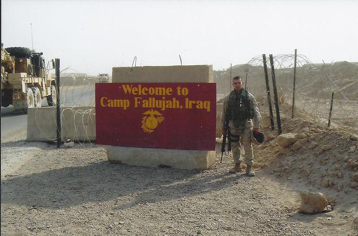 Camp Fallujah David Daly Marine Officer