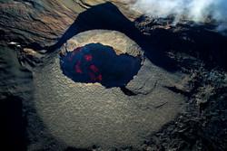 Cône volcan drone Reunion