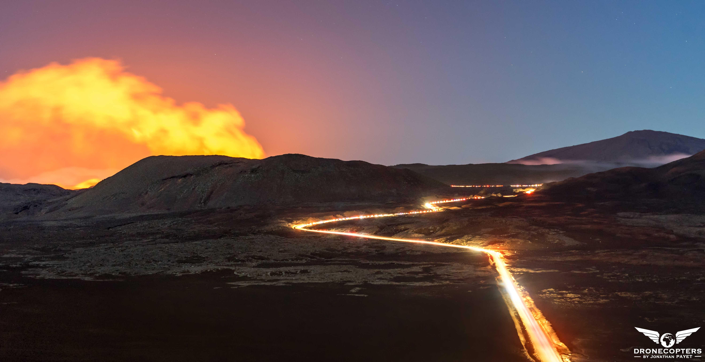 Nuit éruptive à la plaine des sables