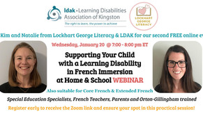 Webinar: Supporting Your Child with a Learning Disability in French Immersion at Home & School