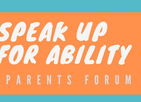 Speak Up for Ability Forum - May 25, 2019