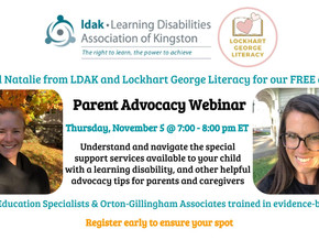 Parent Advocacy Webinar – Thursday, November 5 @ 7:00 pm ET