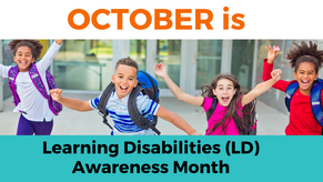 October is LD Awareness Month
