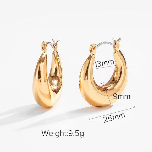 L Crest Earrings