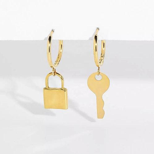 14K Lock &  Key