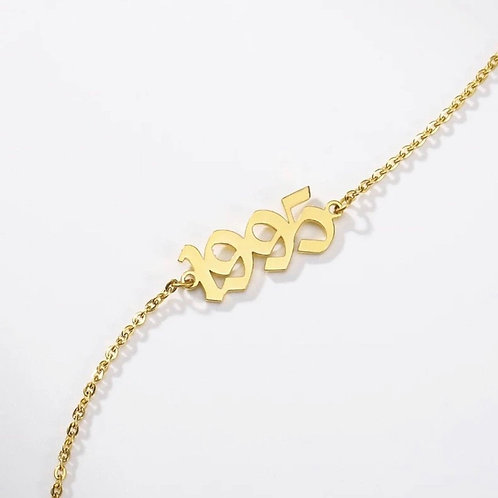 Old English Date Anklet