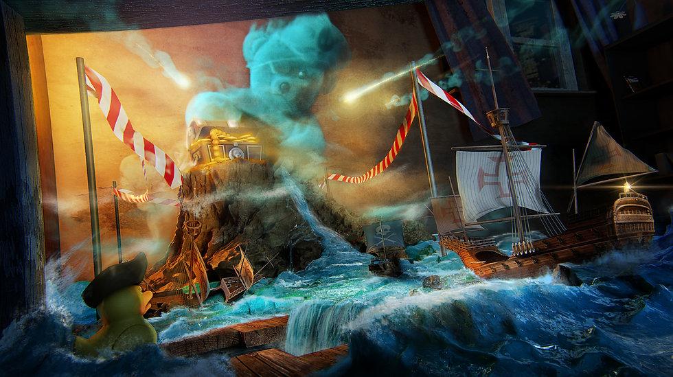 3d illustration pirate adventure