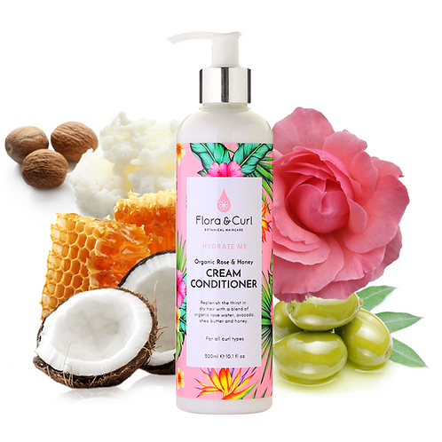 Flora and Curl Organic Rose & Honey Cream Conditioner