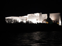 Temple of Aset at night
