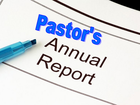 District Assembly & Annual Pastor's Report & Forms