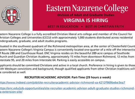 ENC Richmond Campus - Job Opening