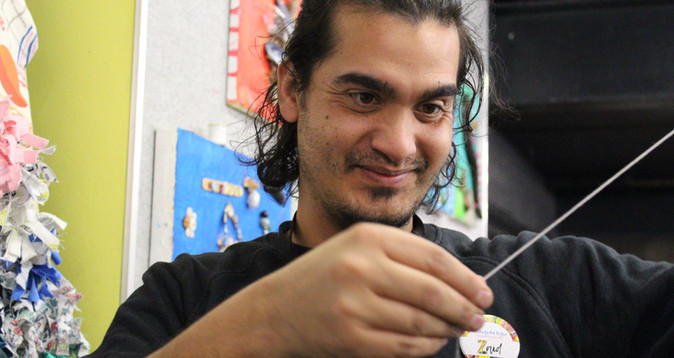 We love our beneficiaries as much as Zaid loves sewing.