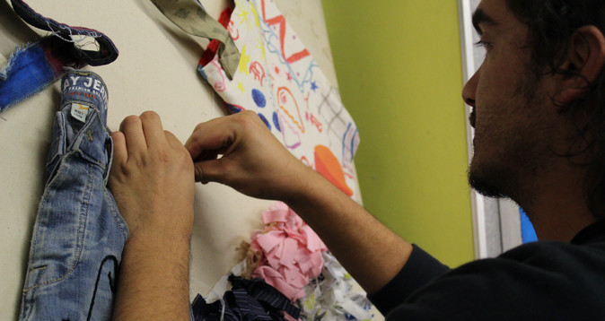 Zaid mounting the ACV Manifesting the New Embroidery Projects
