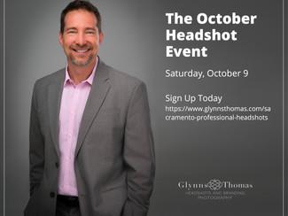October Sacramento Headshots Event