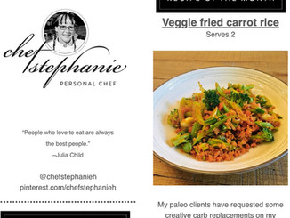 I Was Featured by Chef Stephanie!