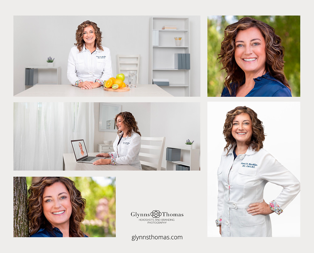 Marketing photographs for a functional nutritionist for her website
