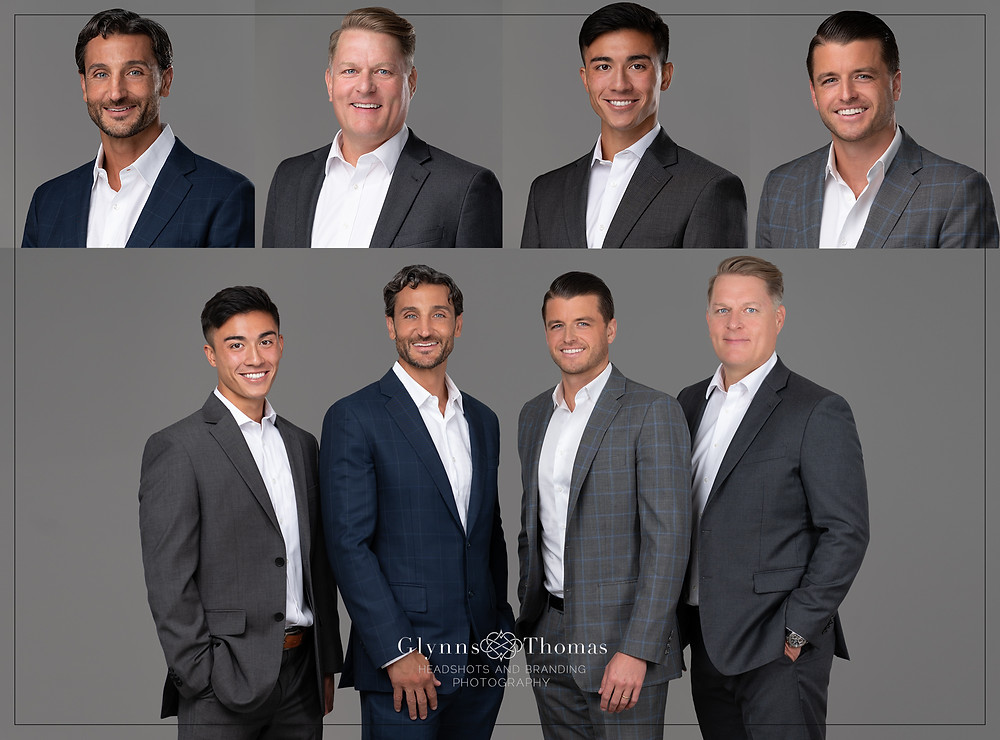 Sacramento office headshots of commercial real estate team