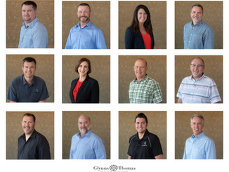 Office Headshots of a Civil Engineering and Surveying Team