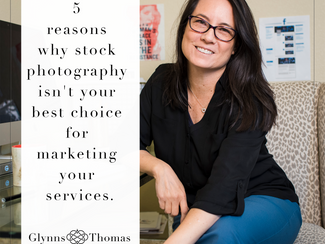 5 Reasons why stock photography isn't your best choice for marketing your services.