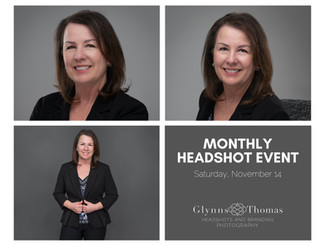 Monthly Headshot Event - Almost Sold Out