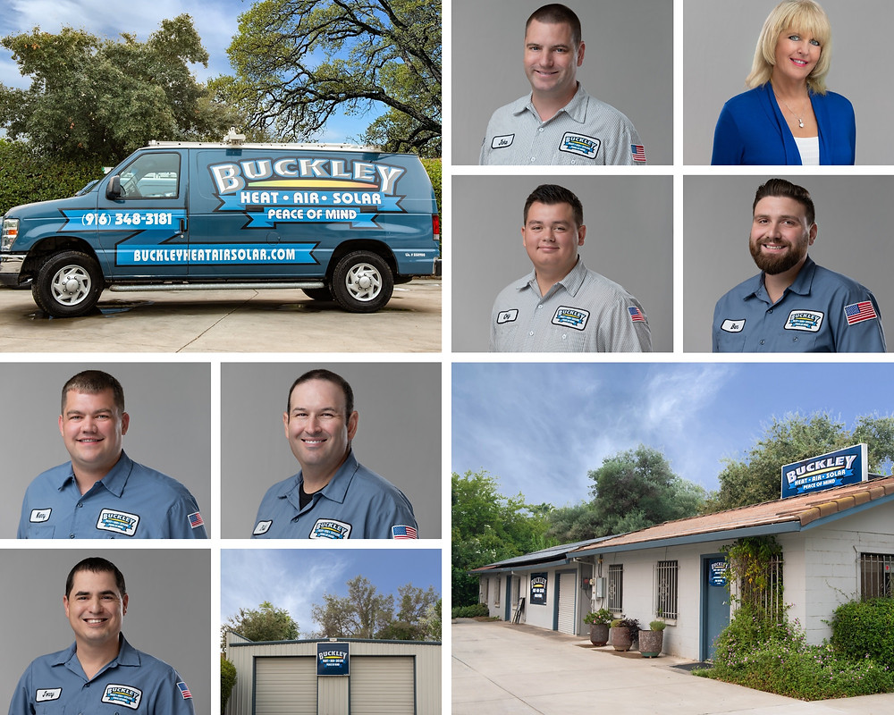 professional portraits of staff at an HVAC team in Citrus Heights CA