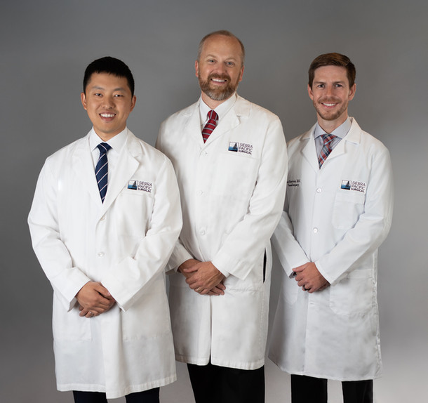 Group portrait of a team of doctors in sacramento