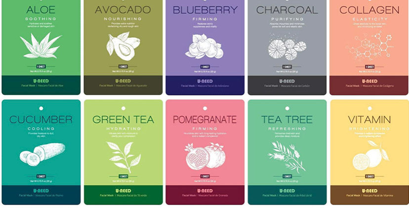 Natural Fruit & Veggie Mask Sheets